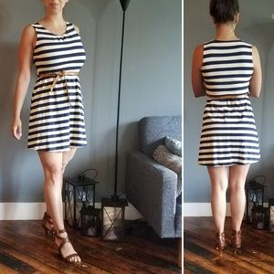 Dresses & Skirts - Navy and white cotton dress